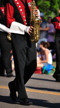 Band Performer Playing Saxophone