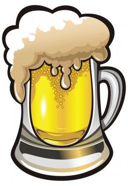 Beer glass, vector illustration