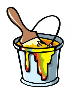 Paintbrush in a paint can