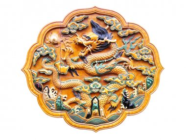 Bas-relief with Chinese dragon