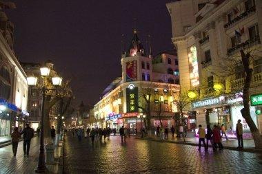 Street of a night city