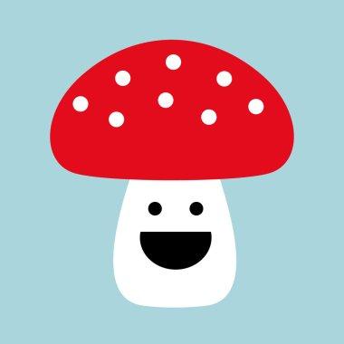 Mushroom with smile