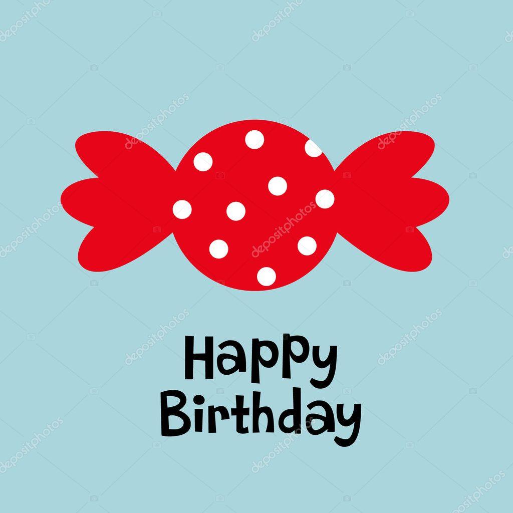 Candy birthday card Vector vectorrgb 2129803 – Candy Birthday Card