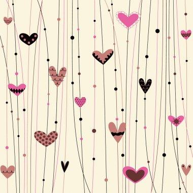 Vector hearts background clip art vector