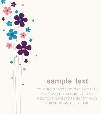 Vector flower wallpaper design