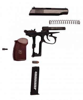 Makarov pistol disassembled