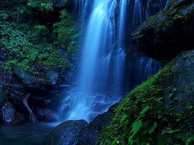 Blue and cool waterfall