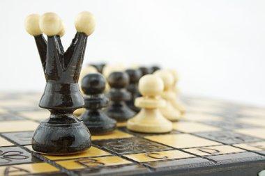 Black chess queen leader