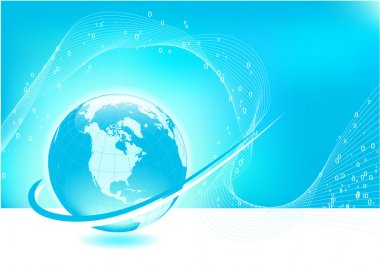 Globe on background