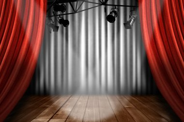 Stage Theater Stage With Spotlight Perfo
