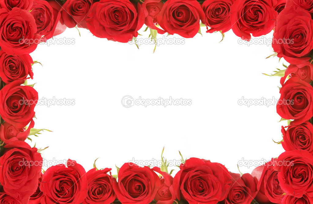 Valentine or Anniversary Red Roses Frame — Stock Photo © tobkatrina ...