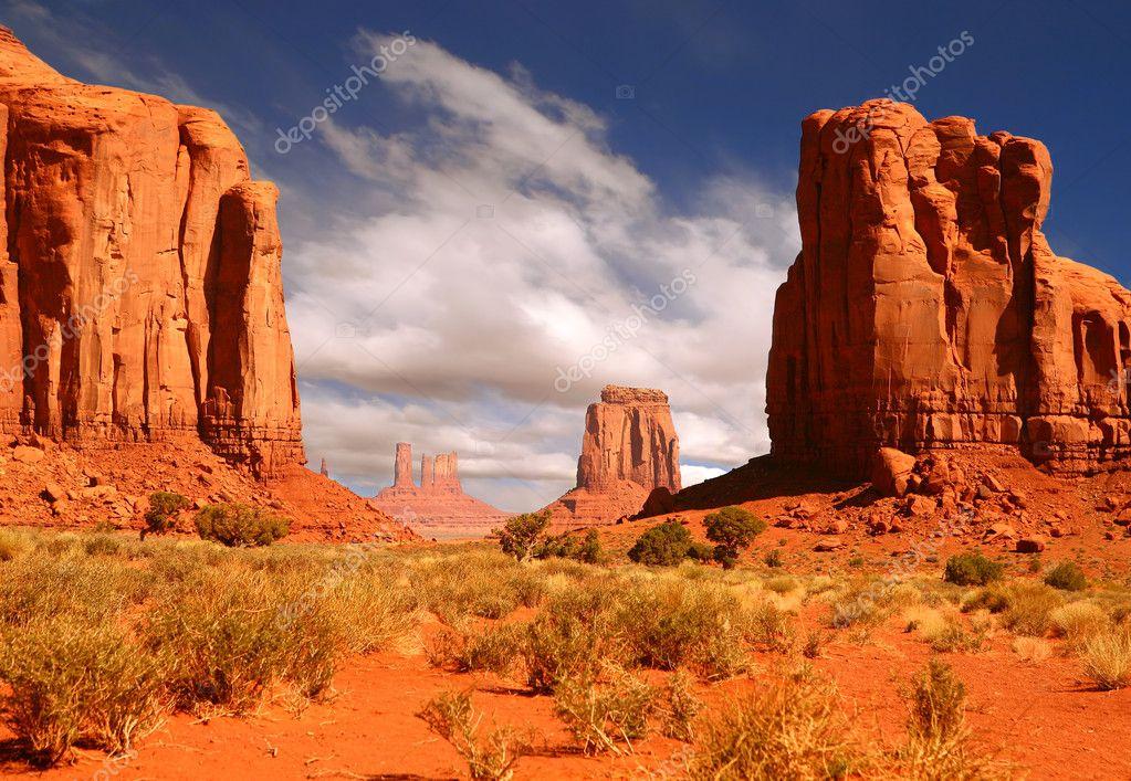 Framed Landscape Image of Monument Valle