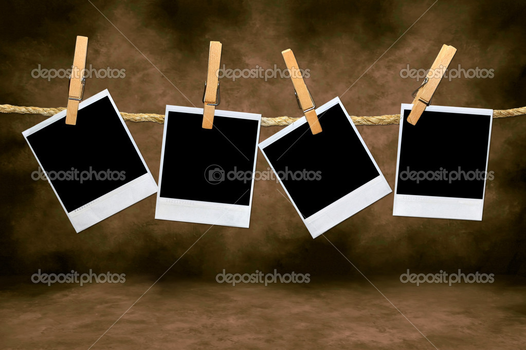 empty blank film frames hanging from a r stock photo 2204576