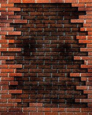 Brick Wall Background With Grunge Elemen