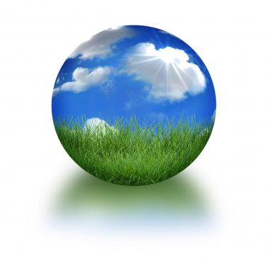 Earth in 3D Landscape Conceptual Format