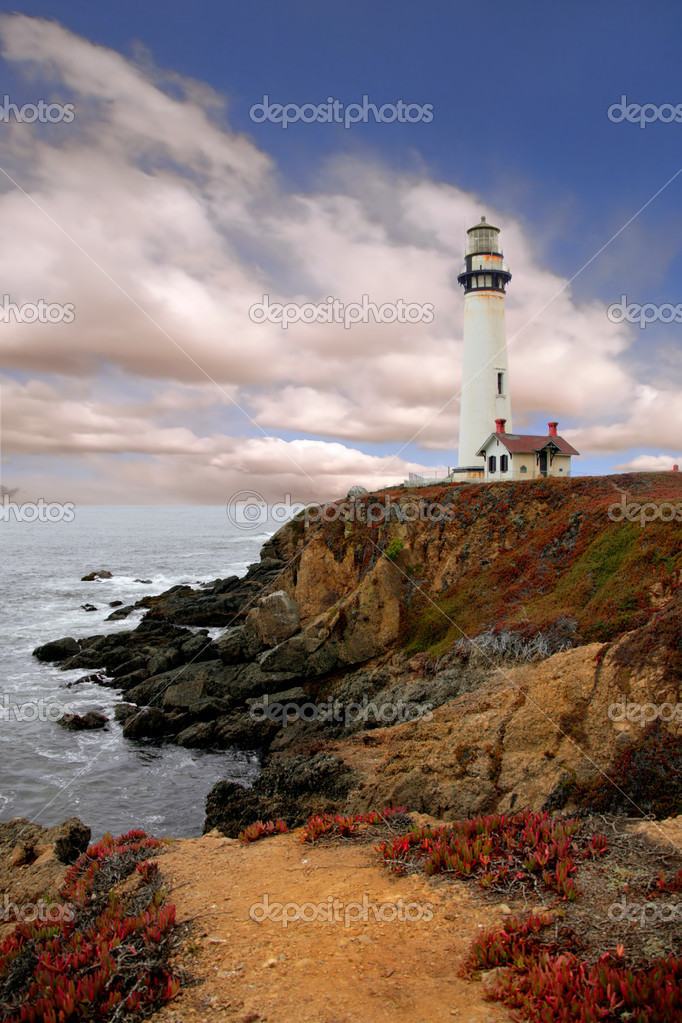 Lighthouse Along the Coast