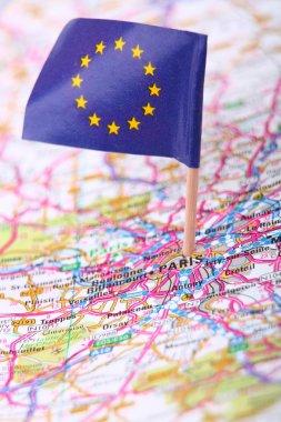 Road map of Paris