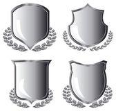 Fotografie Silver shields with laurel wreath