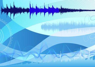 Spectrum analyzer, abstract background
