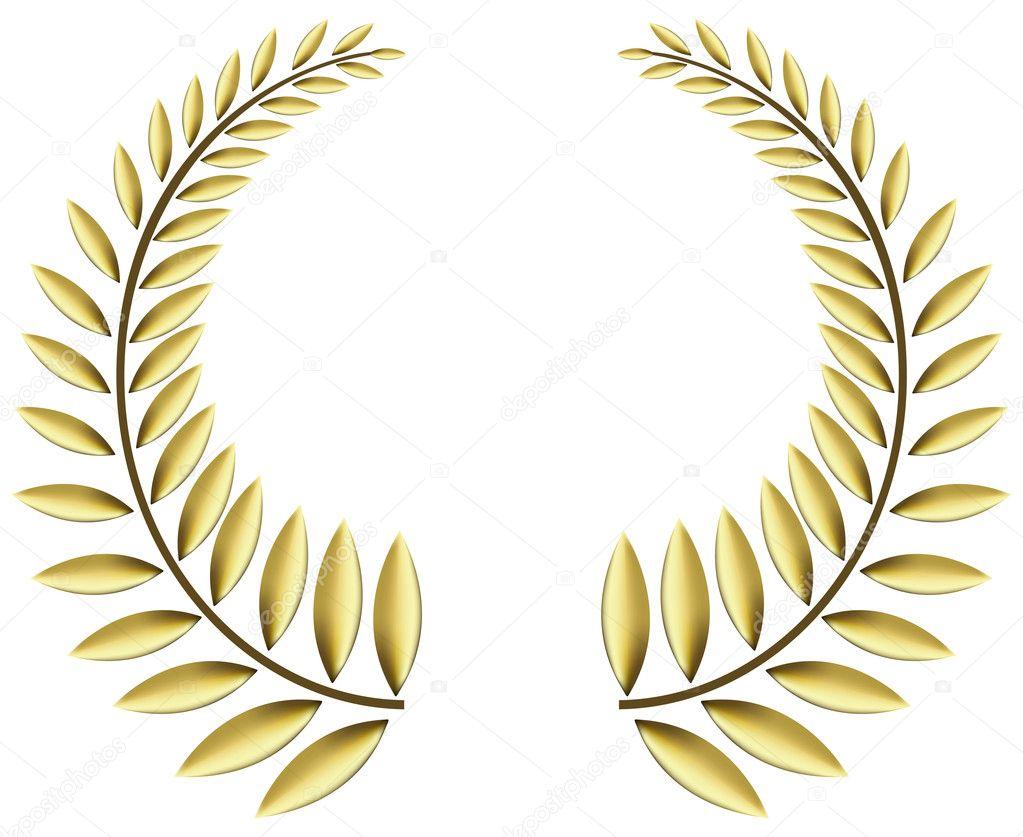 Zlatý vavřínový věnec — Stock Vektor © halina photo  2181610 6c7037db38