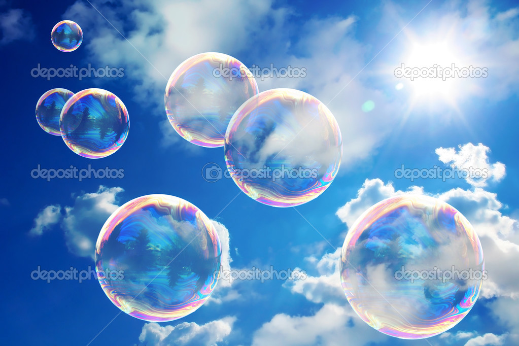 Soap bubbles on blue sky — Stock Photo © halina_photo #2608444
