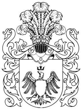 Ornate heraldic shields