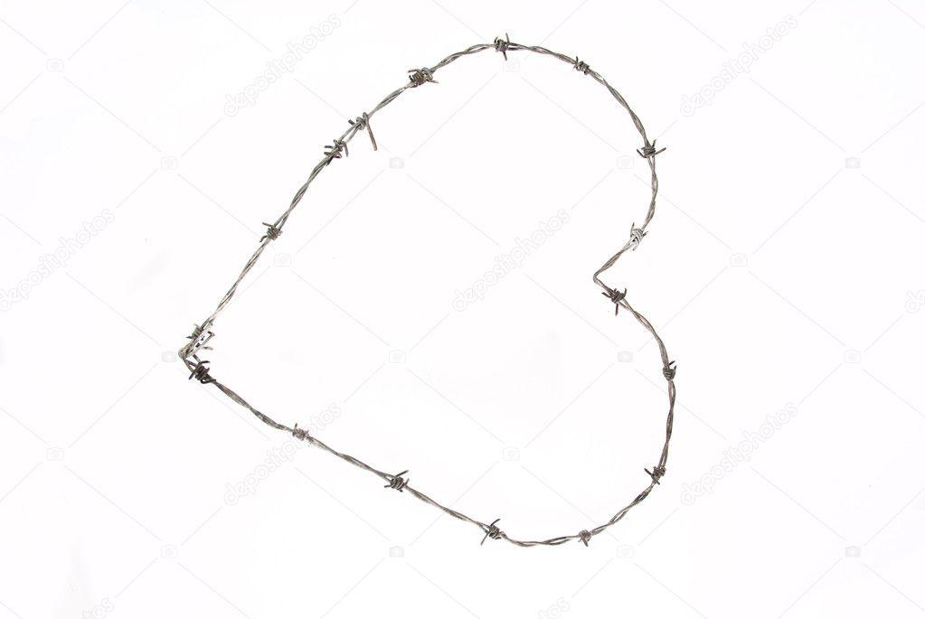 Barbed wire heart — Stock Photo © Heinschlebusch #2281963