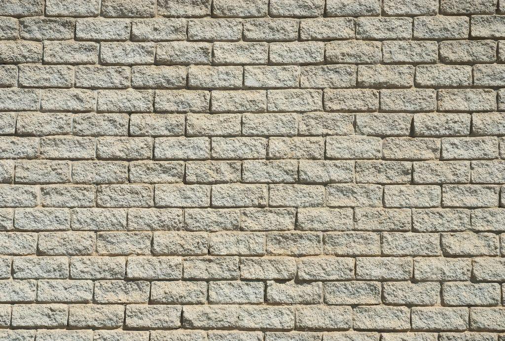 Light colored brick wall