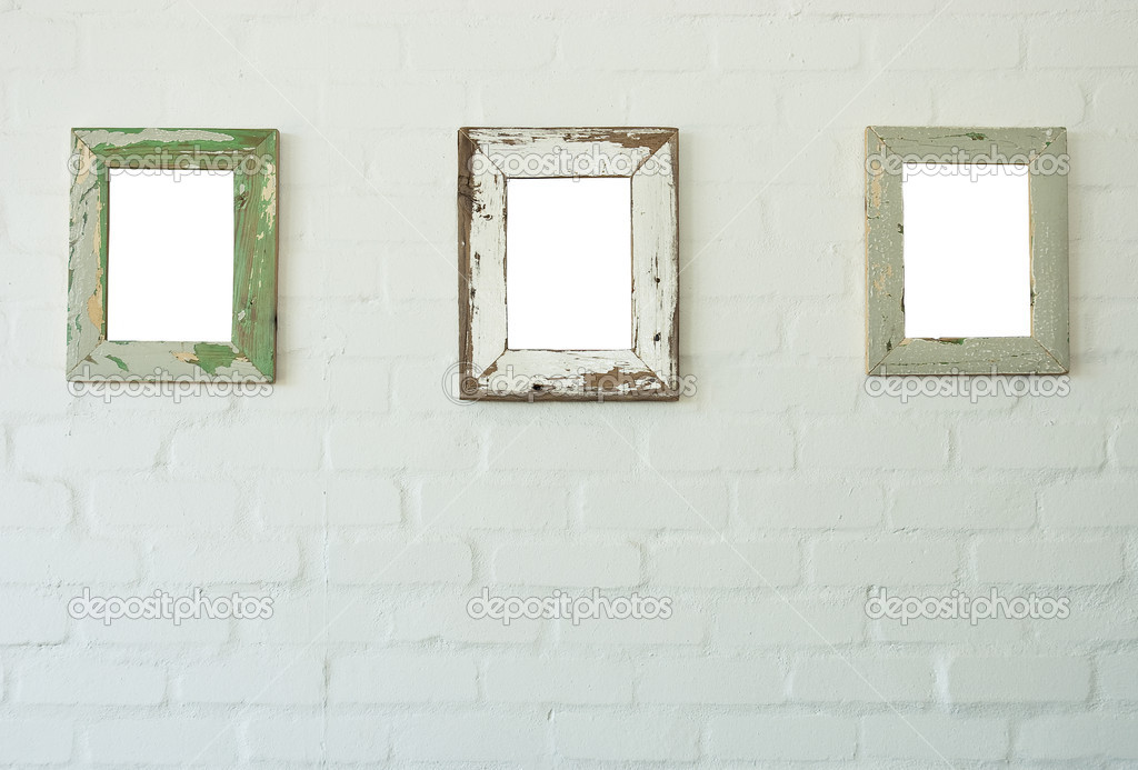 Three frames on wall — Stock Photo © Heinschlebusch #2332869