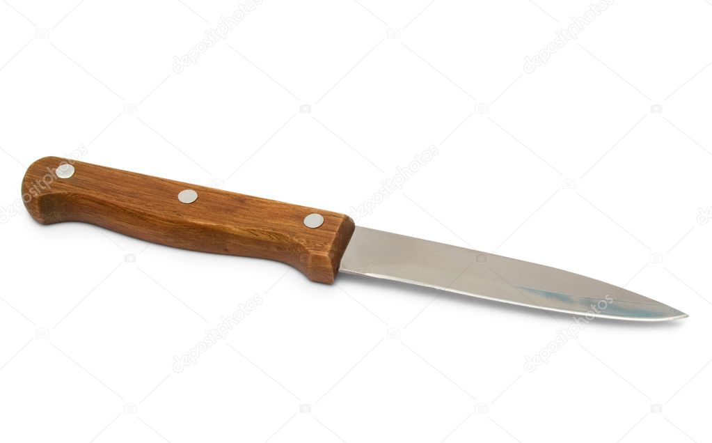 wooden handle kitchen knives small kitchen knife with wooden handle stock photo 169 firstblood 2165731 6201