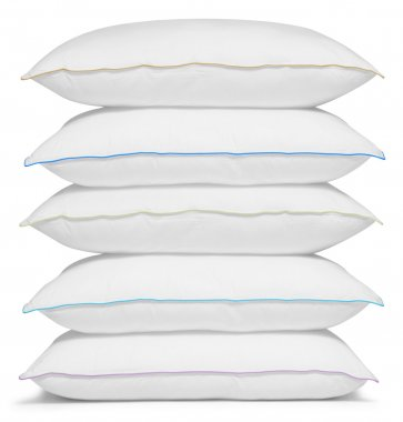 Stack of pillows. Isolated