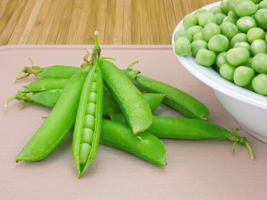 Pods sweet green peas and beans