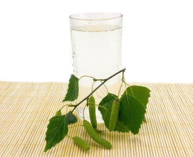 Glass of birch juice