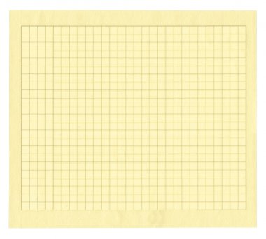 Yellow squared paper