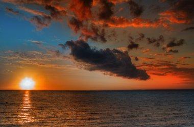 Beautiful vibrant sunset