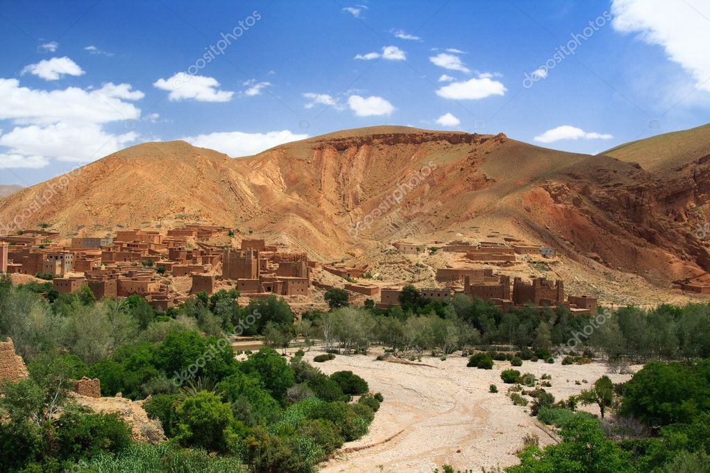 Dried river in Morocco