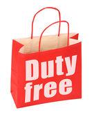 Papiertüte mit Duty-Free-Schild
