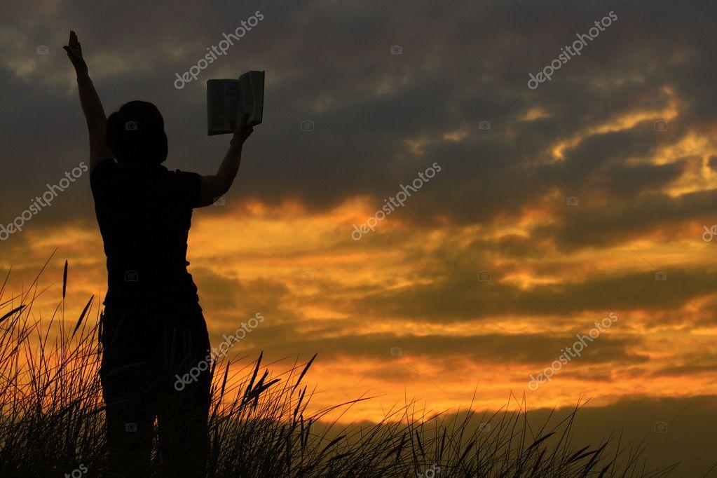 Muito mulher orando com a Bíblia — Fotografias de Stock © yoka66 #2199594 VO45