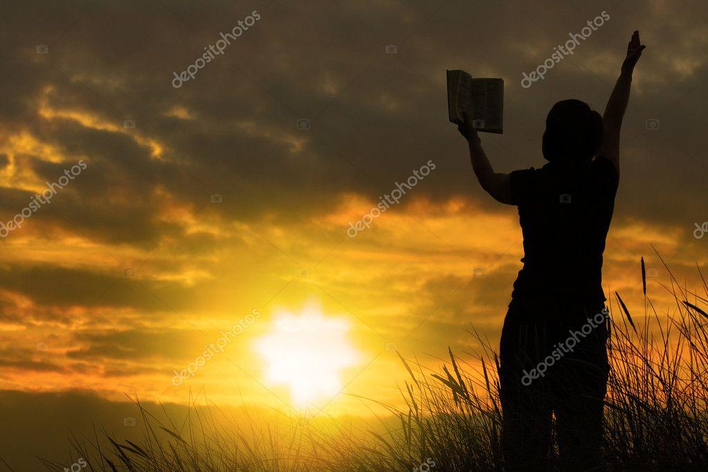 Favoritos mulher orando com a Bíblia — Fotografias de Stock © yoka66 #2199619 HD88