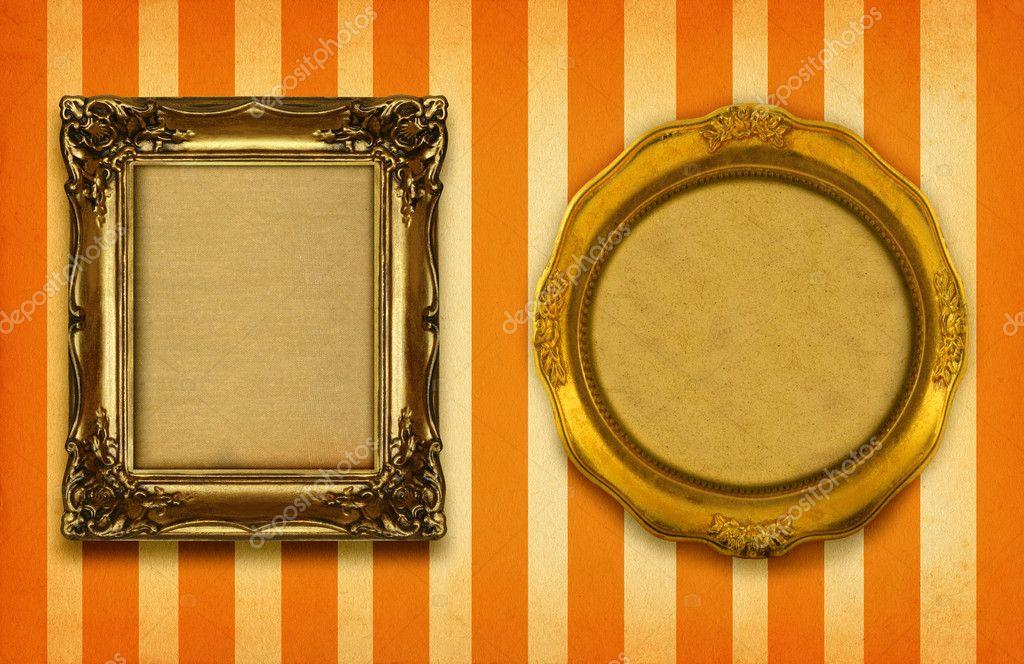 Two gilded frames — Stock Photo © yoka66 #2199781