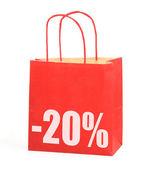 Nákupní taška s -20 % znak