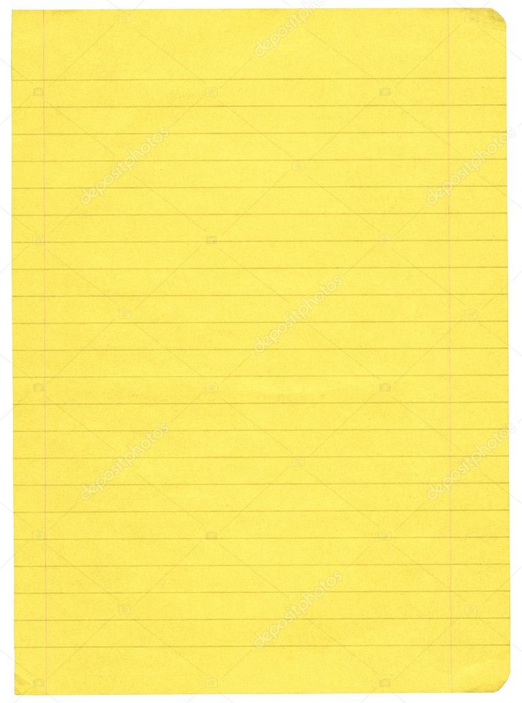 Yellow lined paper Photo yoka66 2246555 – Paper Lined