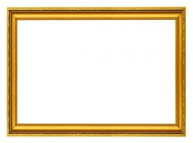 Golden horizontal frame