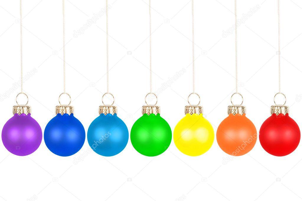 Weihnachtsbaum-Kugeln, Regenbogenfarben — Stockfoto © deposit123 ...