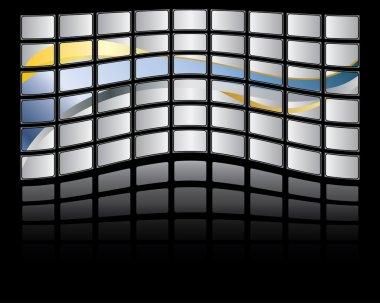 Big panel of TV screen