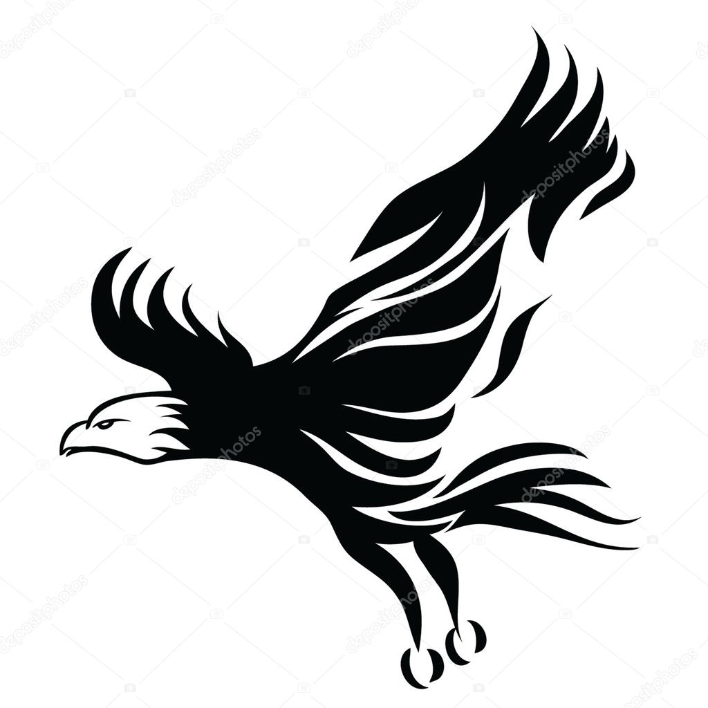 Black eagle design