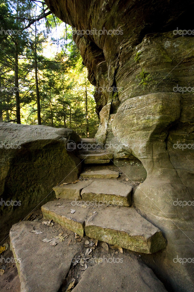 Well-Lit Stone Path