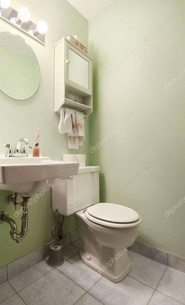 Salbei grün Badezimmer — Stockfoto © photokitchen #2294155