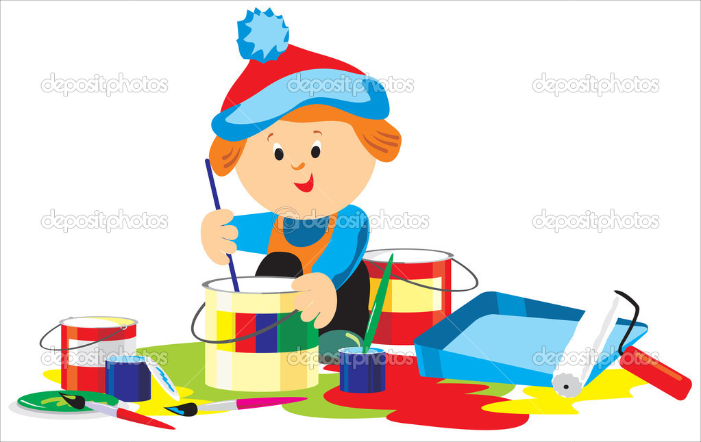 Краски мальчик открытки минус
