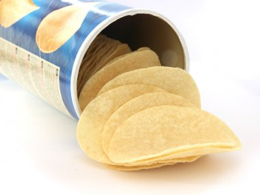 Potato chips in can